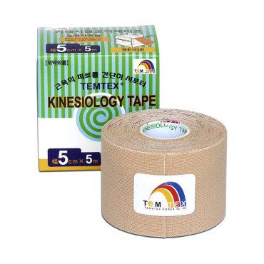 S rehabilitačními pomůckami - TEMTEX kinesio tape Classic, béžová tejpovací páska 5cm x 5m