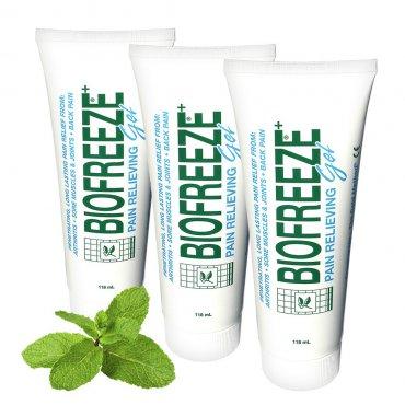 Regeneruj s námi - 3 x BIOFREEZE Gel - Chladivý gel proti bolesti zad, svalů a kloubů 118ml