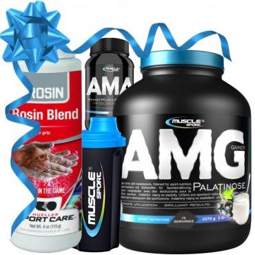 Sportovní výživa - AMG Gainer Palatinose+AMA+šejkr+magnezium ZDARMA!