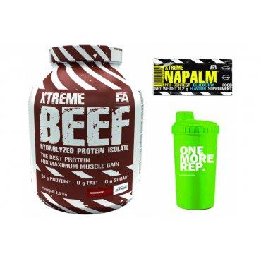 Sportovní výživa - FA Xtreme BEEF Protein 1,8 kg + šejkr+ tester