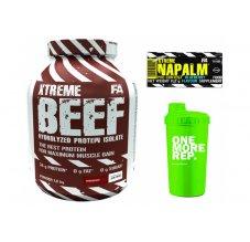 FA Xtreme BEEF Protein 1,8 kg + šejkr+ tester