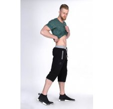 Nebbia Fitness 3/4 tepláky 125 černé