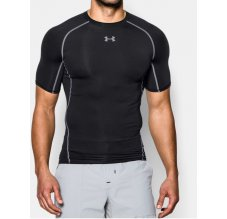 Under Armour HeatGear SS Compression Shirt černé