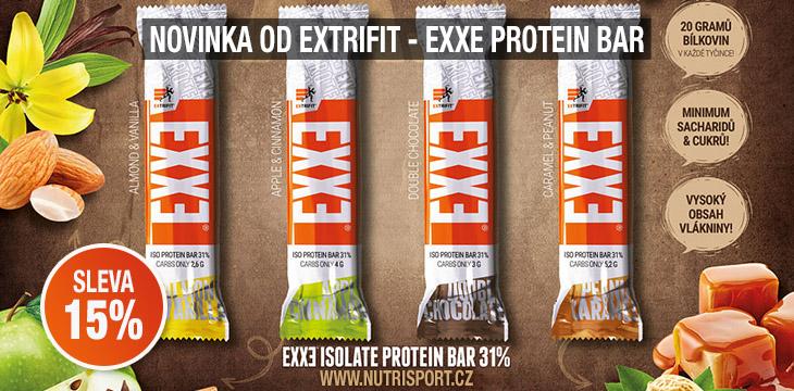 Novinka od Extrifit - EXXE Protein Bar - NUTRISPORT.cz